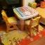 E10903 ชุดโต๊ะเรียนเขียนหนังสือสำหรับเด็กแบบน็อกดาวน์ ลายการ์ตูนแมวชมพู thumbnail 9