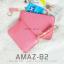 กระเป๋าสตางค์ผู้หญิง ทรงถุง รุ่น AMAZ-B2-L สีชมพูเข้ม thumbnail 5