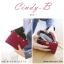 กระเป๋าสตางค์ผู้หญิง ทรงถุง สีแดง รุ่น CINDY-B thumbnail 2