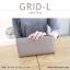 กระเป๋าสตางค์ผู้หญิง รุ่น GRID-L สีชมพูเข้ม ใบยาว สองซิป thumbnail 18