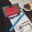 กระเป๋าหนัง ทรงชาแนลบอย Happy summer (Red-Gray) 10 นิ้ว thumbnail 9