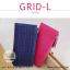 กระเป๋าสตางค์ผู้หญิง รุ่น GRID-L สีชมพูเข้ม ใบยาว สองซิป thumbnail 2