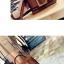 กระเป๋าหนังพรีเมี่ยม PU ทรง boyy bags (Brown) thumbnail 3