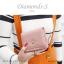 กระเป๋าสตางค์ผู้หญิง ใบสั้น รุ่น DIAMONDS-S สีดำ thumbnail 13