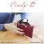 กระเป๋าสตางค์ผู้หญิง ทรงถุง สีแดง รุ่น CINDY-B thumbnail 6