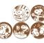 พร้อมส่ง ** Deco Latte Coffee Art Sheets [Snoopy Set B] แผ่นทำลายตัวการ์ตูนรูปสนูปปี้บนเครื่องดื่ม สามารถใช้กับเครื่องดื่มร้อนได้ทุกชนิด 1 ห่อมี 5 ลาย thumbnail 2