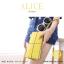 กระเป๋าสตางค์ผู้หญิง ทรงถุง กระเป๋าคลัทช์ สีชมพู รุ่น ALICE thumbnail 20