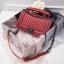 กระเป๋าหนังแกะ ทรง Chanel boy lady (Red) thumbnail 2