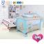B10102 เตียงนอนเด็ก แบบน่ารัก สินค้าใหม่นำเข้าพร้อมชั้นวางที่เปลี่ยนผ้าอ้อม (A1สีฟ้า) thumbnail 1