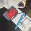 กระเป๋าหนัง ทรงชาแนลบอย Happy summer (Red-Gray) 10 นิ้ว thumbnail 3