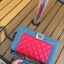 กระเป๋าหนัง ทรงชาแนลบอย Happy summer (Red-Gray) 10 นิ้ว thumbnail 7