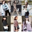 กระเป๋า chanel gabrielle bag size 28 (สีขาว-ดำ) thumbnail 7