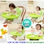 เก้าอี้เนั่งกินข้าวเด็กแบบพกพา C10150(สีเขียว) thumbnail 4