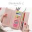 กระเป๋าสตางค์ผู้หญิง ใบยาว รุ่น DIAMONDS-L สีน้ำเงิน thumbnail 17