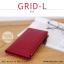 กระเป๋าสตางค์ผู้หญิง รุ่น GRID-L สีชมพูเข้ม ใบยาว สองซิป thumbnail 5