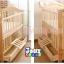 TP21049 (WD6) เตียงไม้สีเเบจ (สีไม้) มีลิ้นชักเก็บของ ปรับเป็นโต๊ะได้ thumbnail 2