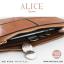 กระเป๋าสตางค์ผู้หญิง ทรงถุง กระเป๋าคลัทช์ สีชมพู รุ่น ALICE thumbnail 6