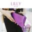 กระเป๋าสตางค์ผู้หญิง ทรงถุง กระเป๋าคลัทช์ สีม่วง รุ่น LILLY thumbnail 4