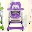 C10153 เก้าอี้นั่งกินข้าว ป่อนข่าวเด็ก Tower chair ปรับเอนเปลนอนได้ สีเขียว thumbnail 8