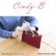 กระเป๋าสตางค์ผู้หญิง ทรงถุง สีแดง รุ่น CINDY-B thumbnail 7