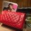 กระเป๋าหนังแกะ Red ทรงชาแนล คลาสสิก (28x17x8cm) SALE !!! thumbnail 2