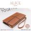 กระเป๋าสตางค์ผู้หญิง ทรงถุง กระเป๋าคลัทช์ สีชมพู รุ่น ALICE thumbnail 10