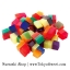พร้อมส่ง ** Bicolor Water Expanding cubes เม็ดบอลแช่น้ำแล้วพองตัว ทรงสี่เหลี่ยม สองสีในก้อนเดียว *เป็นของเล่น ทานไม่ได้* thumbnail 2