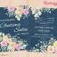 D90054 การ์ดแต่งงาน การ์ดเชิญ ลายดอกไม้ thumbnail 1