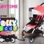 C10202 รถเข็นเด็ก Baby time แบบพกพาน้ำหนักเบา 5.8 kg โครงหลังคาดีไซน์ผ้าสีชมพู thumbnail 1