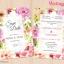 D90059 การ์ดแต่งงาน การ์ดเชิญ ลายดอกไม้ thumbnail 1