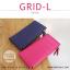 กระเป๋าสตางค์ผู้หญิง รุ่น GRID-L สีชมพูเข้ม ใบยาว สองซิป thumbnail 3