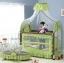 TB21012 เตียงนอนเด็ก (สไตล์ยุโรป) สีเขียว thumbnail 1