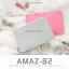 กระเป๋าสตางค์ผู้หญิง ทรงถุง รุ่น AMAZ-B2-L สีชมพูเข้ม thumbnail 4