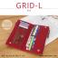 กระเป๋าสตางค์ผู้หญิง รุ่น GRID-L สีชมพูเข้ม ใบยาว สองซิป thumbnail 8