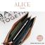 กระเป๋าสตางค์ผู้หญิง ทรงถุง กระเป๋าคลัทช์ สีชมพู รุ่น ALICE thumbnail 7