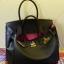 กระเป๋า hermes birkin 30' Black-Pink thumbnail 3