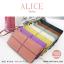 กระเป๋าสตางค์ผู้หญิง ทรงถุง กระเป๋าคลัทช์ สีชมพู รุ่น ALICE thumbnail 3