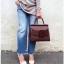 กระเป๋าหนังแท้ boyy karl wine red size29 (หนังวัวโมโนแกรม) thumbnail 3
