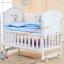 B10141 เตียงนอนเด็กไม้สีขาว (WW1) รุ่นอเนกประสงค์ปรับใช้ได้หลายฟังชันส์ thumbnail 1