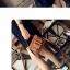 กระเป๋าหนังพรีเมี่ยม PU ทรง boyy bags (Green) thumbnail 6