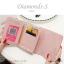กระเป๋าสตางค์ผู้หญิง ใบสั้น รุ่น DIAMONDS-S สีดำ thumbnail 4
