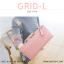 กระเป๋าสตางค์ผู้หญิง รุ่น GRID-L สีชมพูเข้ม ใบยาว สองซิป thumbnail 21
