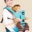 C10138 ป้อุ้มเด็ก Happy bear แบบ Hip seat สีฟ้า มีเบาะรองนั่งคาดเอว thumbnail 1