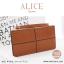 กระเป๋าสตางค์ผู้หญิง ทรงถุง กระเป๋าคลัทช์ สีชมพู รุ่น ALICE thumbnail 11