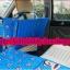 แผ่นปูปิดช่องวางเท้าเบาะหลังรถ กันเด็กตก ลายPaul Frank พื้นสีฟ้า ขนาด 134 x 75 รหัสA10100 thumbnail 2