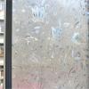 "PVC สูญญากาศติดกระจกป้องกัน UV ""Flower 3D Glass"" หน้ากว้าง 90 cm"
