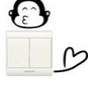 """สติ๊กเกอร์ติดปลั๊กไฟ """"Monkey Kiss"""" ขนาดซองบรรจุ 15 x 12 cm"""
