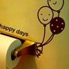 """สติ๊กเกอร์ติดปลั๊กไฟ """"ลูกโป่ง Happy Day สีน้ำตาลเข้ม"""" ขนาดซองบรรจุ 15 x 12 cm"""