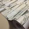 "Wallpaper Sticker แบบมีกาวในตัว ""ลายอิฐหินทราย 3D สีเขียว"" หน้ากว้าง 122 cm ตัดแบ่งขายเมตรละ 250 บาท"