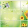 """สติ๊กเกอร์ติดครัวกันน้ำมันกระเด็น """"Sunflower and Photo Frame"""" ขนาด 60 cm x 90 cm"""